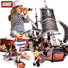 6 Style Pirates of the Caribbean Ship Building Blocks Model Educational Bricks Kids Toys For Children Gifts Compatible Legoes стоимость