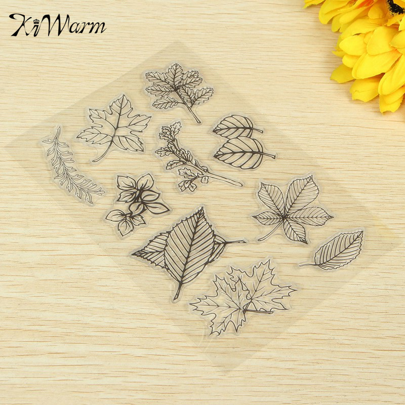 New Scrapbook DIY Photo Album Account Transparent Leaf Silicone Rubber Clear Stamp Seal Cling Set Scrapbooking Craft Diary Card lovely bear and star design clear transparent stamp rubber stamp for diy scrapbooking paper card photo album decor rm 037