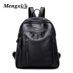 Mengxilu preppy style women backpacks high quality pu leather backpacks casual school bags for teenage girls.jpg 250x250