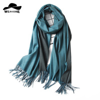 Luxury Brand Scarf Unisex 2017 Female Male Best Quality Wool Cashmere Scarf Pashmina Tassels Hit Color
