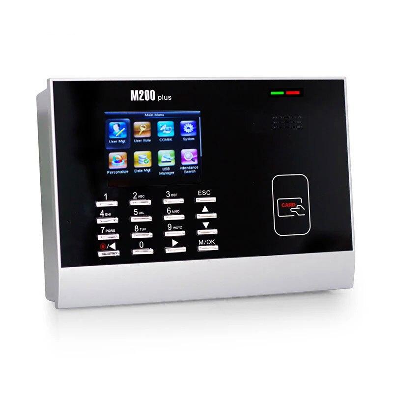 Terminal de présence de temps de carte de poinçon de ZK M200Plus tcp/ip M200Plus enregistrement de temps de carte 125 KHZ enregistreur de temps de carte de proximité