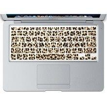 Stylish Leopard Pattern Waterproof Ultra thin Keyboard Skin Film for Macbook Air Pro Retina 13 15 Laptop Silicone Film Sticker