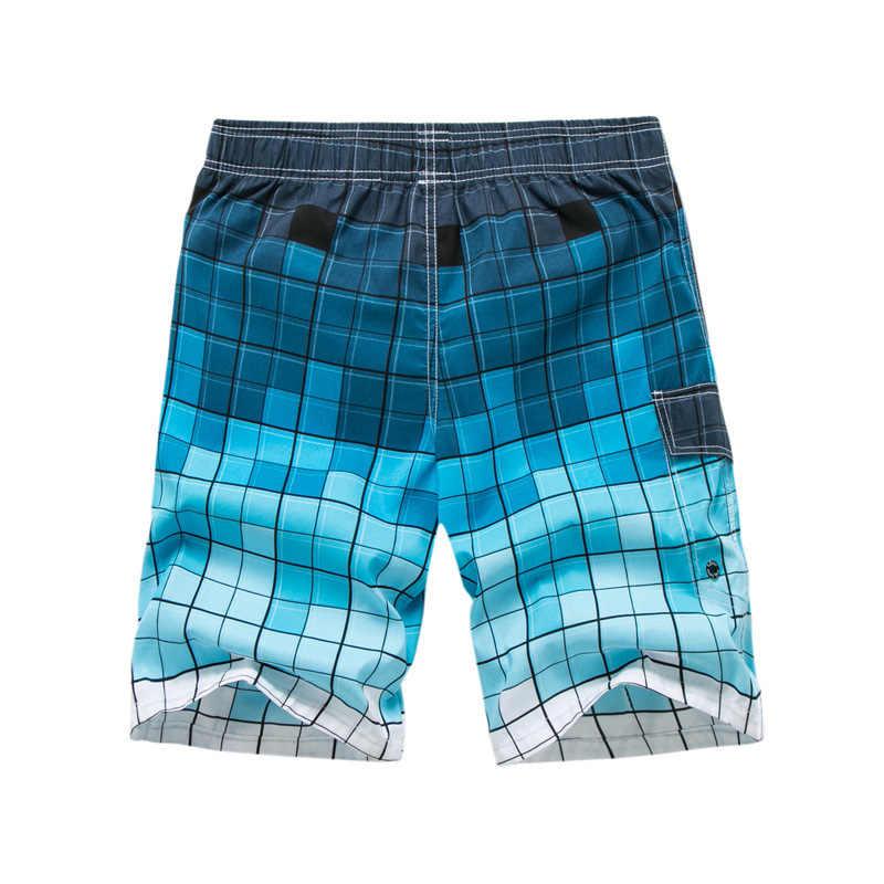 Los hombres pantalones cortos de playa M-6XL tamaño Plus traje de los hombres pantalones cortos de Surf pantalones cortos de verano traje de baño de las Bermudas playa corta troncos
