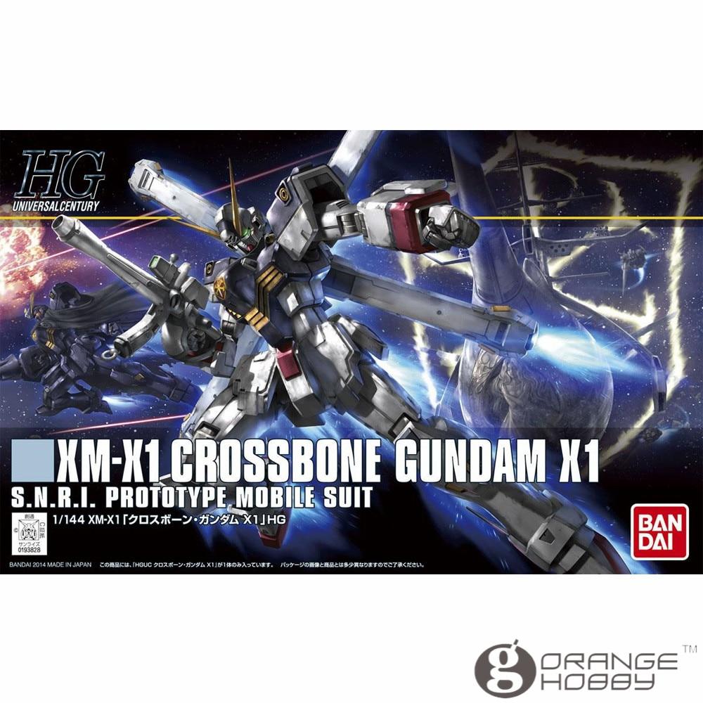 OHS Bandai HGUC 187 1/144 XM-X1 Crossbone Gundam X1 Mobile Suit Assembly Model Kits bandai bandai gundam model sd q version bb 309 sangokuden wu yong bian xiahou yuan battle