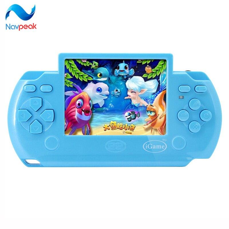 Neue design Kinder 3,5 zoll touchscreen handspielkonsolen mit AV Kabel Unterstützung TV-out PVP M700 1 stück