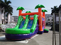 FREE SHIPPING BY SEA Outdoor Giant Inflatable Slide With Double Lane Inflatable Trampoline  For Sale