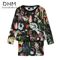 Children Clothing Teen Girls Dress Girls Clothes Long Sleeve Above Knee Black Green Flora Print Straight Kids Dress For Girls