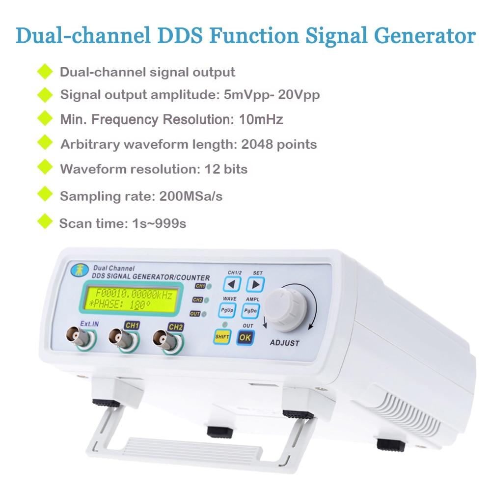 Digital signal generator 2-channel DDS function generator Arbitrary Waveform Frequency generator 200MSa/s 6MHzDigital signal generator 2-channel DDS function generator Arbitrary Waveform Frequency generator 200MSa/s 6MHz