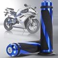 "1 Par BUH9 7/8 ""Da Motocicleta Universal Motos Esportivas de Alumínio Guiador Aperto De Mão de Borracha Grips Motocicleta 5 cores"