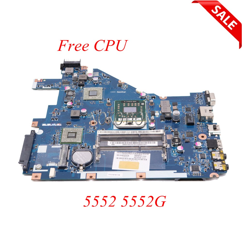Galleria fotografica NOKOTION PEW96 LA-6552P MBR4602001 Scheda Madre Del Computer Portatile Per <font><b>Acer</b></font> aspire 5552 5552G Scheda Principale DDR3 Presa S1 con Trasporto CPU