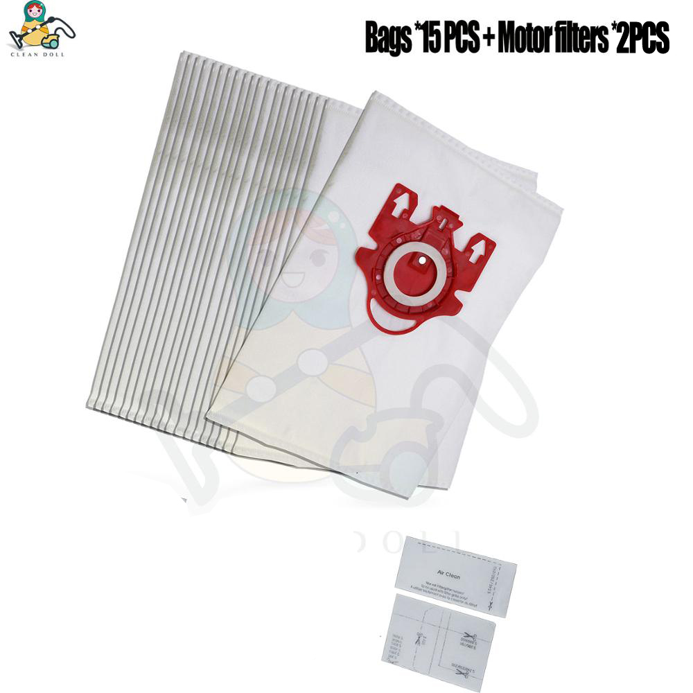 CLEAN DOLL 15-PACK dust bags for Miele 3D FJM 9917730 C1 C2 S300 S700 S4000 S6000 Vacuum Cleaner & Motor filter bags цена