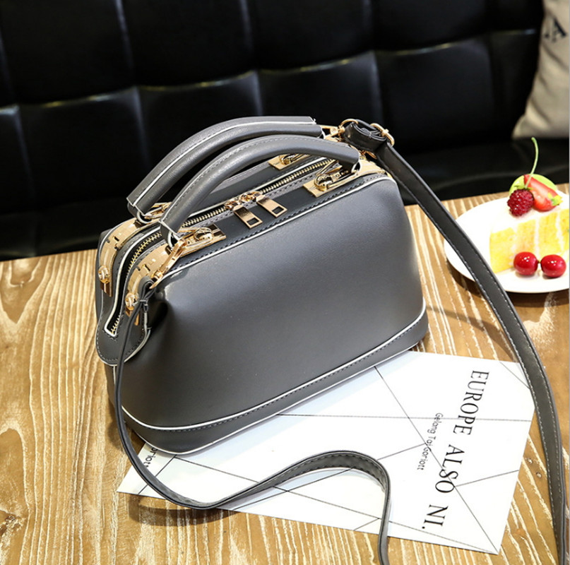 ICEV 2017 Vintage Women's Hand bag Shoulder Bag Ladies Leather Clutch Brand Designer Luxury Top Quality Handbags Boston Bolsos