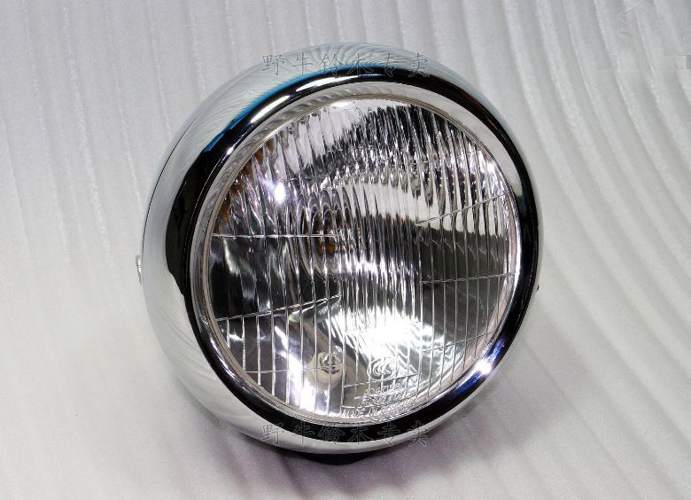 Motorcycle Headlight Head Lamp Headlamp Assembly For Suzuki GN250 Pure Glass Mask Pure Metal Reflective Silver