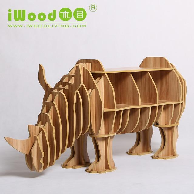 Continental Europea muebles artesanales de madera de rinoceronte