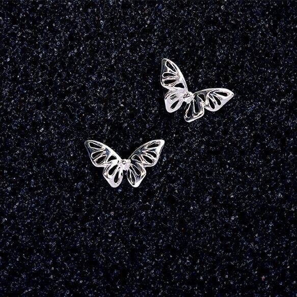 Flyleaf 925 Sterling Silver Cute Hollow Butterfly Stud Earrings For Women Fashion Girl Gift Sterling-silver-jewelry