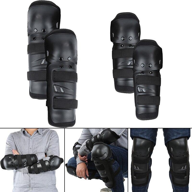 4 piezas de la motocicleta Protector de la rodilla de rodillas ciclismo bicicleta de carreras táctico Skate rodilleras de protección y Guardia almohadilla para el codo