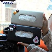 Mini Copper 7 Colors Sun Visor Tissue Box Hang Clip Car-styling Interior Accessories Auto Paper Box Countryman Clubman F55 F56