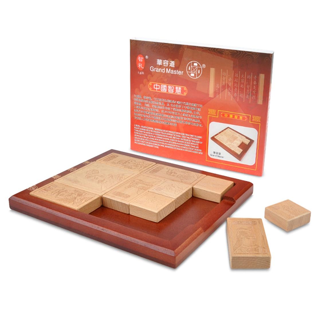 us $31.19 22% off|classic chinese wooden game toy huarong dao path klotski  sliding puzzle brain teaser educational development toy w puzzle od zabawki