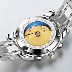 Image 4 - Dom Heren Mechanische Horloges Luxe Mode Merk Waterbestendig Automatische Polshorloge Mannen Business Tourbillon Horloge M 75D 2MW