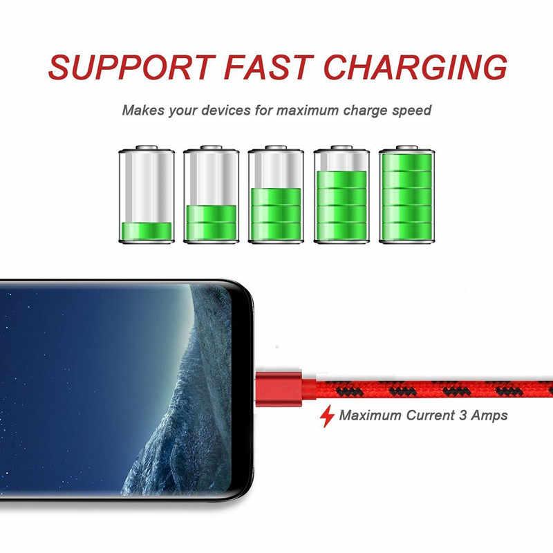 0.2 متر/1 متر/2 متر/3 متر طويل USB نوع C USB سريع شاحن سلك ل موتورولا موتو G6/G6 زائد ، موتو Z 2018 ، موتو X4 X 2017 Z2 اللعب