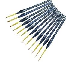 Di alta grad 12 Pcs Belle Dettagli Dipinto A Mano Linea di Aggancio Penna di Arte Materiale Minuto Serie di Disegno di Arte Della Penna Della Pittura di Nylon pennello acrilico