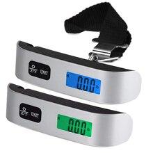 Цифровые весы для багажа, компактный безмен для путешествий, максимальный вес 50 кг/10 г