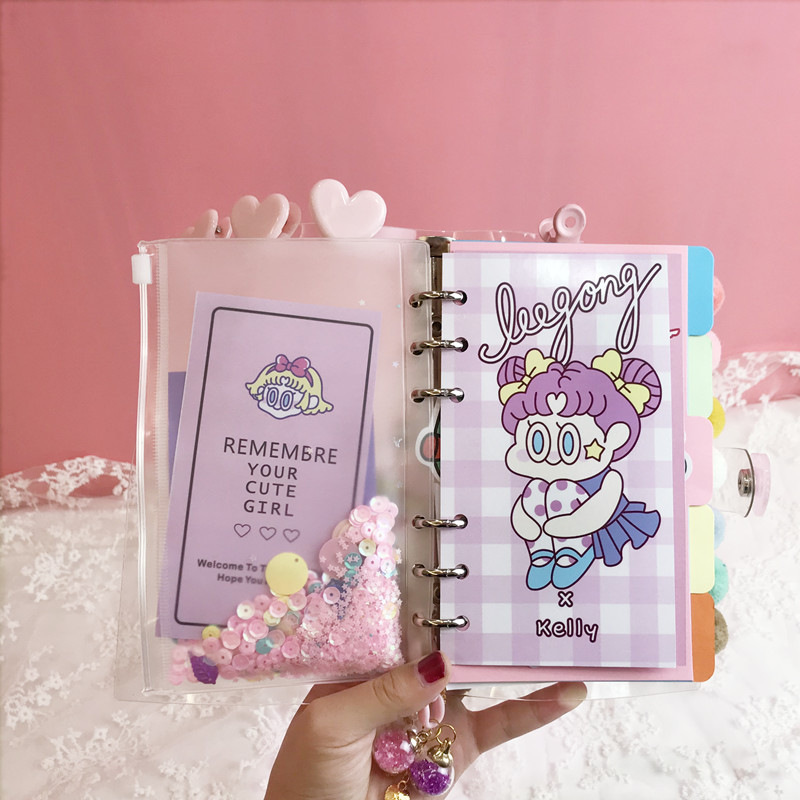 DIY Notebook Bingbing Super Star Planer Kawaii Bullet Journal Girl 's Diary Organizer Student Daily Weekly Plan Stationery Gift-in Notebooks from Office & School Supplies