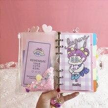 Diy Notebook Bingbing Super Ster Schaafmachine Kawaii Journal Meisje Dagboek Organizer Student Dagelijks Weekplan Briefpapier Gift