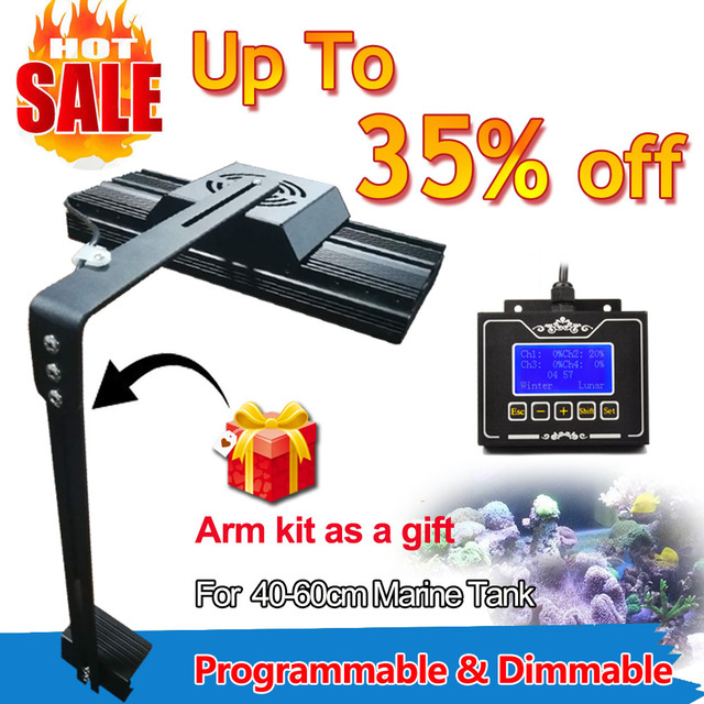 dsuny programmable dimmable marine fish coral reef aquarium led