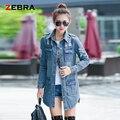 Moda Otoño 2016 de La Vendimia de Las Mujeres Jeans Denim Jacket Coat Mujeres Chaqueta de Jean Mujer chaquetas Largas para las mujeres Outwear caliente venta