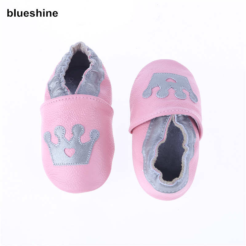 Lovely Styles of Genuine Leather Baby Girls Soft Shoes Infant Booties Baby Boys First Walker Shoes Cow Leather Bebe Shoes