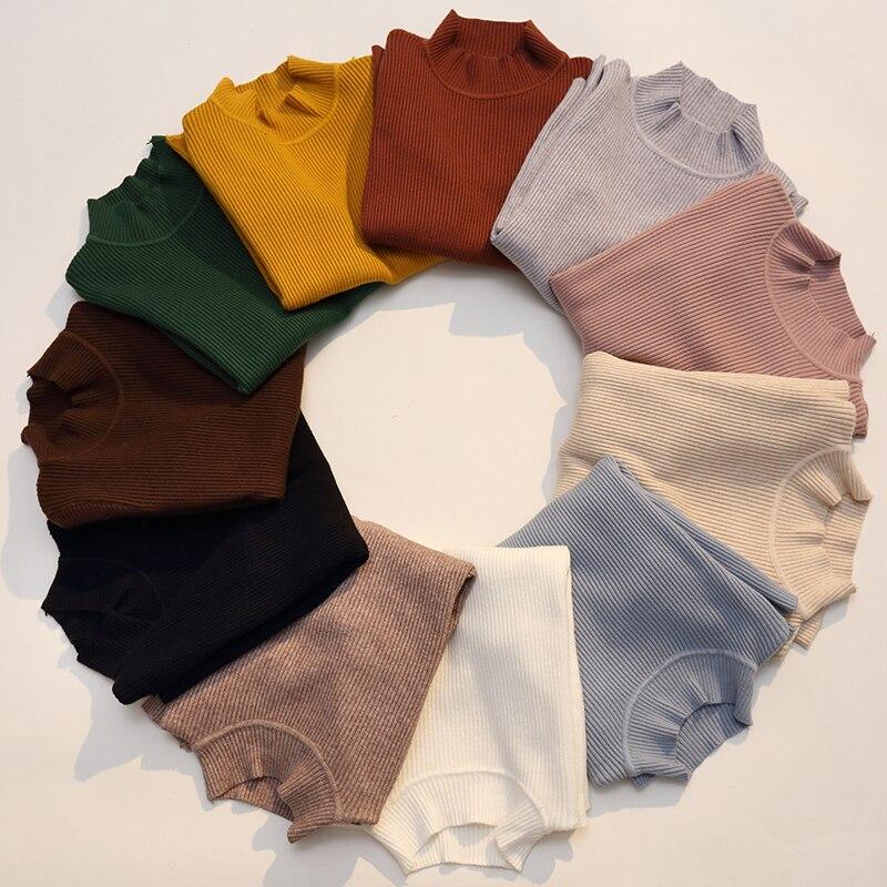 2018 Otoño Invierno mujeres suéteres suéter tejido elasticidad Casual moda Slim Turtleneck caliente suéteres femeninos 9011