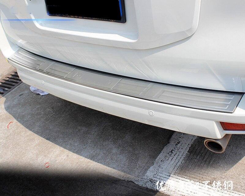 Accessoires de garniture de hayon en acier inoxydable pour 2014 2015 2016 Toyota Prado FJ150 150 Chrome