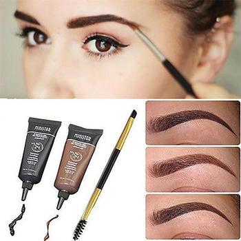 Liquid Eyebrow Enhancers Natural Easy To Wear Brown Waterproof Tint Eyebrow Henna With Mascara Eyebrows Paint Brush Set Beauty