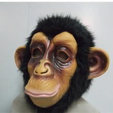 Adult Humorous Funny deluxe comical Chimp Animal Mask Monkey Gorilla