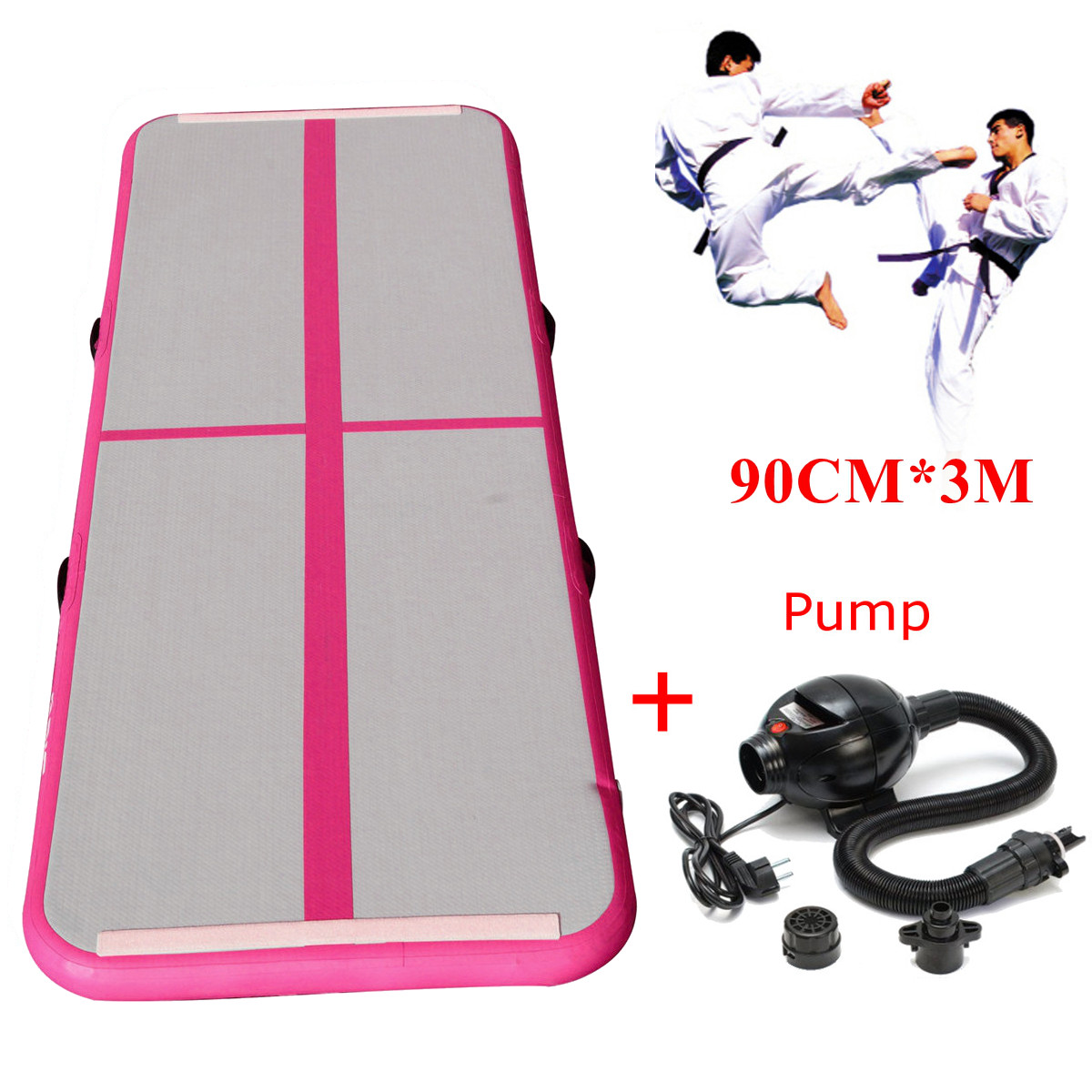 Gofun 118x35x4inch Air Tracks Floor Home Gymnastics Tumbling Mat Inflatable Air Tumbling Track GYM 8m gymnastics air track fitness exercise gym air tumbling mat training inflatable track floor home gymnastic high quality