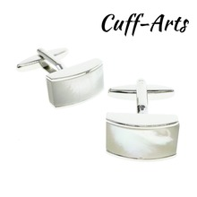 Cufflinks for Men Curved MOP Classic 2018 Vintage Shell Cuff Link Jewelry Wedding Gifts by Cuffarts C10160B
