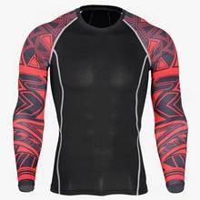 2019 Новая мужская футболка для бега эластичная тренировочная компрессионная одежда спортивная быстросохнущая одежда мужская