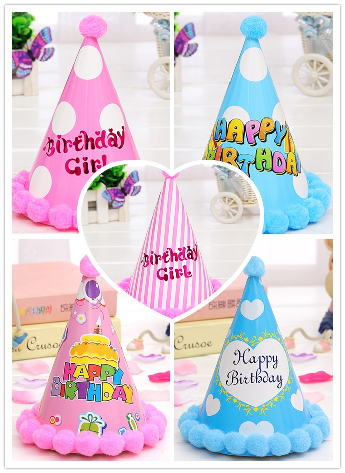 Lovely Paper Cone Birthday Party Hats For Children Fun Party Hats