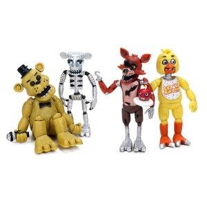 Image 2 - 4 pz 4 delle Cinque Notti a Freddy Serie di Azione PVC Figure Set 4.5 6.5 cm Freddy Fazbear Bonnie chica Foxy Sorella Posizione Bambole