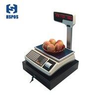 HSPOS получения Термальность печати шкала измерения с RJ11 Порты и разъёмы и денежный ящик для POS Розничная кассовый Системы для магазинов