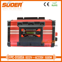 Suoer【 Pure Sine Wave Inverter 】12V 220V 1500W Power Inverter(FPC D1500A)