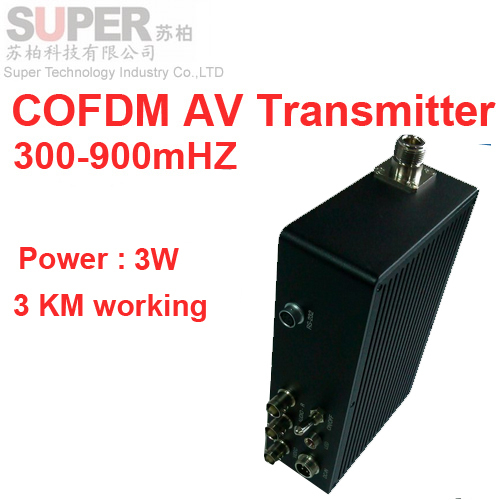 Drone Transmission 3W NLOS COFDM Transceiver 3KM Working Video Transmitter Image 300 900mhz