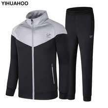 YIHUAHOO Brand Men Tracksuit Two Piece Clothing Set Casual Men's Sportswear