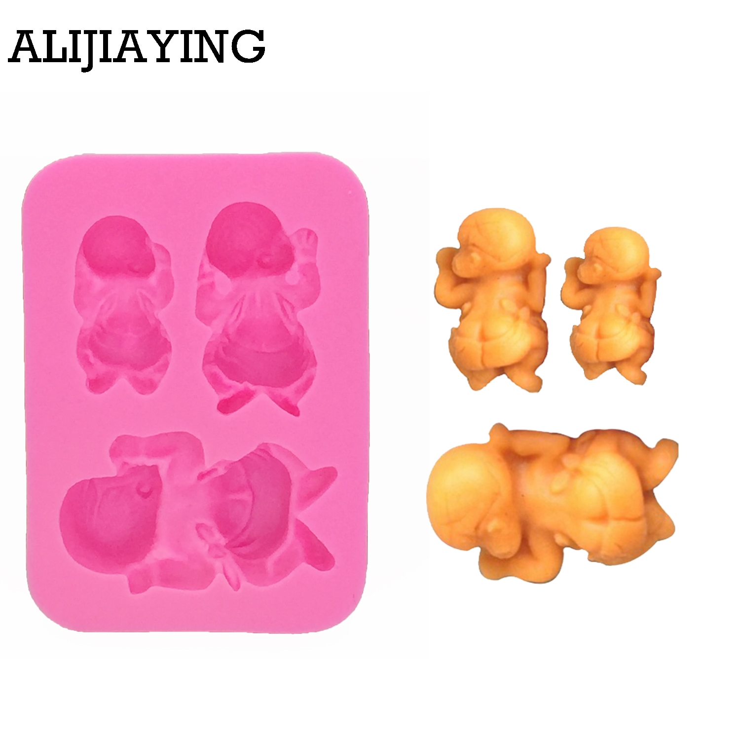Mini Baby series Silicone Mold Baby Shower Assortment Resin Silicone Mould Chocolate Candy Mold Flavor Tools Chocolate Molding