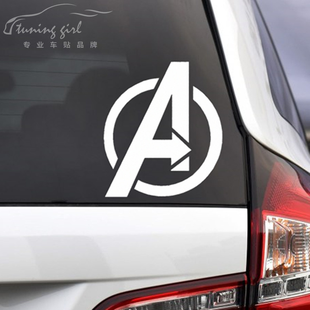 Car Stickers Marvel The Avengers SHIELD Creative Decoration Decals For Windshield Fuel Tank Cap Auto Tuning Styling Vinyls D10