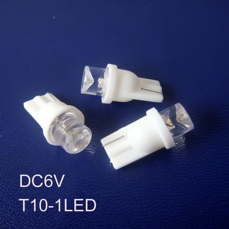 High quality T10 6v led Instrument light,w5w 194 168 led pilot lamp 6.3v led Warning Indicator light free shipping 1000pcs/lot