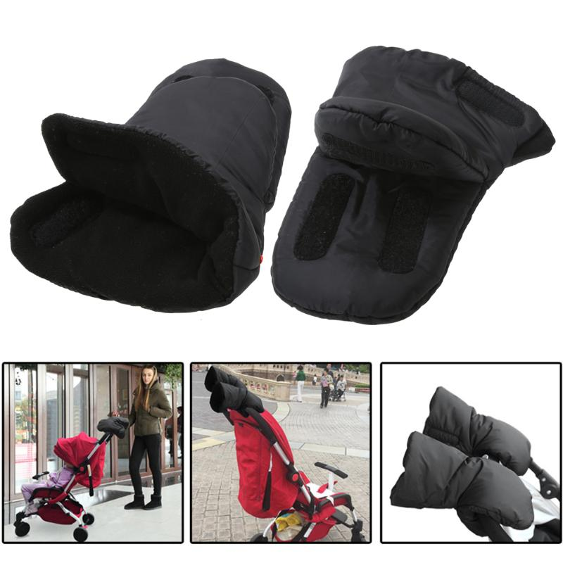 Baby Pram Hand Muff Stroller Accessory Baby Carriage Pushchair Winter Warm Fur Fleece Gloves Buggy Clutch Cart Hand Cover