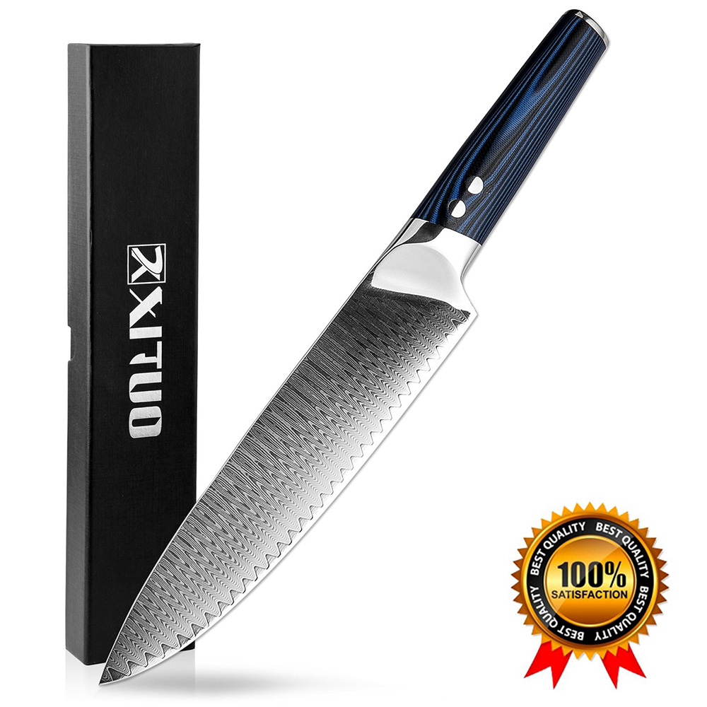Damascus Knives 8 quot Chef Knife Japanese Kitchen Knife Damascus VG10 67 Layer Stainless Steel Knives Razor Sharp G10 Handle New in Kitchen Knives from Home amp Garden