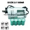 4x CR123A 3.0 V 3 V CARGADOR de Batería Recargable de Li CR123